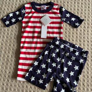 Size 8, Hanna Andersson Stars & Stripes PJs